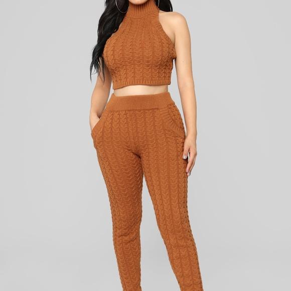 c253d7b5188c Fashion Nova Pants | Crochet Knit Halter Set | Poshmark